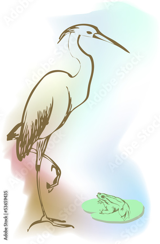 Vector illustration heron
