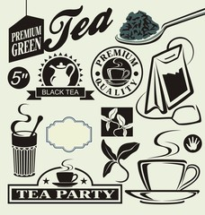 vector set for tea
