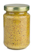 Mustard in a glass jar