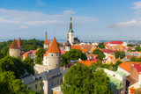 Panoramic view of Tallinn from the Castle