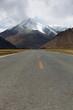 Straight road to Himalayas range, Tibet
