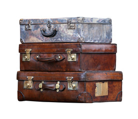Aged suitcases