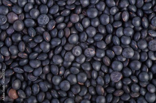 Background of black Beluga Lentils