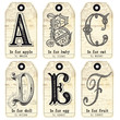 English tags alphabet