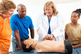 Adult Education Students Learn CPR poster