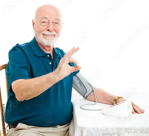 Senior Man - Blood Pressure is A-Okay