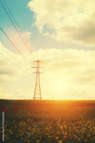 evening pylons