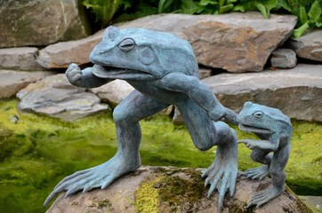 Sculpture of a frog