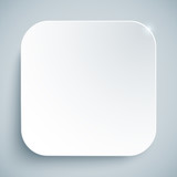 White standard icon vector empty template
