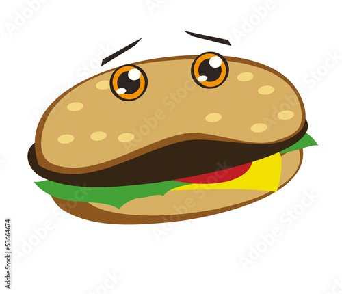 hamburger smile
