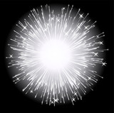 Abstract firework background
