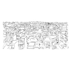 Cityscape sketch for your design