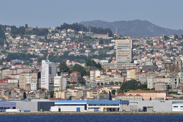 Overview of Vigo, the largest city in Galicia in northwestern Sp