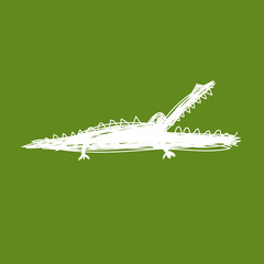 Sketch of funny crocodile for your design