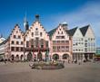 Leinwanddruck Bild - Frankfurt Römer