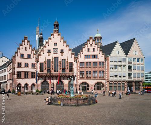 Leinwanddruck Bild Frankfurt Römer