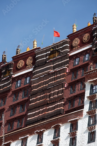 Detail of the Potala Palace, Tibet