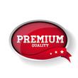 vector premium quality label or button