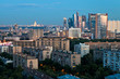 summer twilight over city