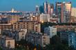panorama of city at dusk