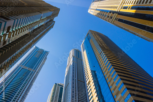 Naklejka dekoracyjna High rise buildings and streets in Dubai, UAE