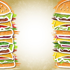 Hamburger background