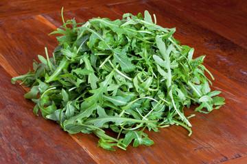 heap of fresh rucola salad