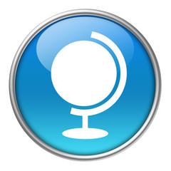Bottone vetro mappamondo 2