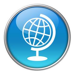 Bottone vetro mappamondo