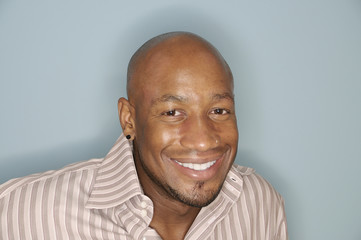 Head shot of a smiling African American man
