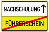 Nachschulung Führerschein Schild  #130626-svg07
