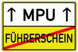 Führerschein MPU Schild  #130626-svg06
