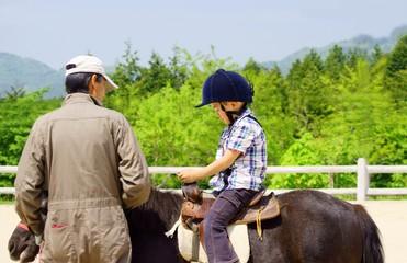 乗馬体験 An Experience Riding A Horse