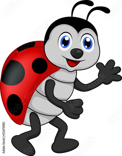 Aluminium Lieveheersbeestjes funny lady bug cartoon