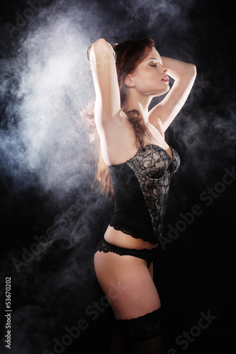 elegance lady in the lingerie