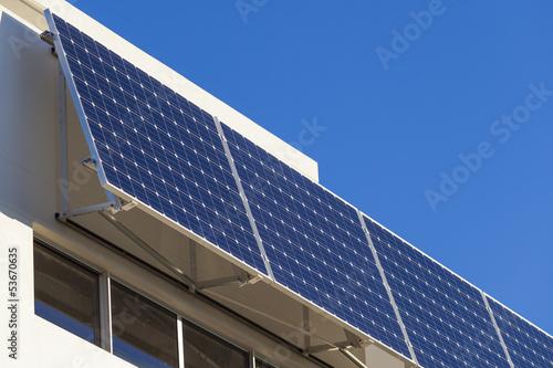 Leinwanddruck Bild Adjustable solar panels