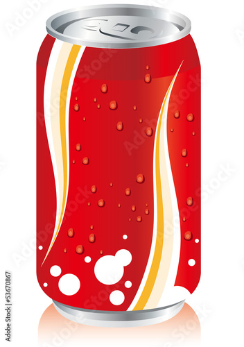 drinks juice cans pet bottle Set Vector