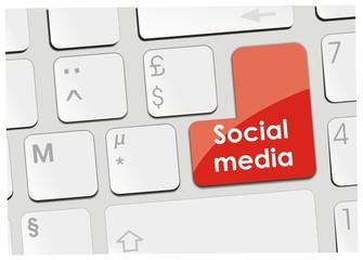 clavier social media