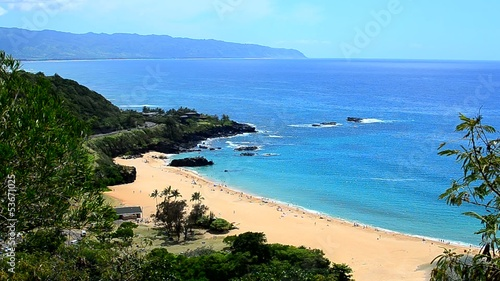 The Beach at Waimea Bay, Hawaii.