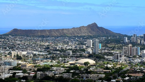 Honolulu, Hawaii with Diamond Head.