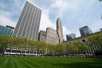 Bryant Park and sorrounding buildings, New York City