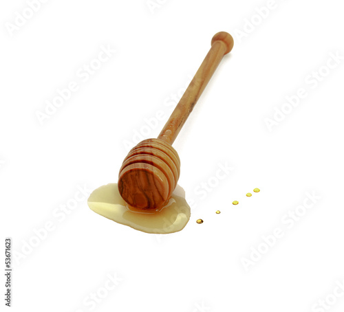 wood stick, isolated on white background