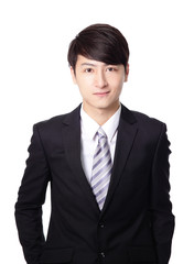 asian businessman standing with smile