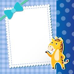 giraffe. baby card.