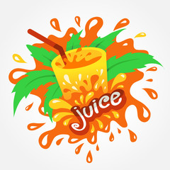 juice drink beverage splash orange