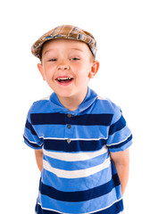 Boy and cloth cap
