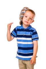 Boy and cloth cap
