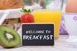 willkommen zum frühstück