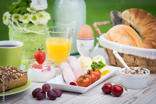 auswahl beim frühstück