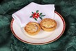 Two mince pies and Christmas napkin © Arena Photo UK